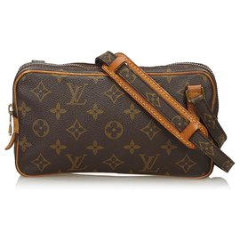 Louis Vuitton-Louis Vuitton Brown Monogram Marly Bandouliere-Brown