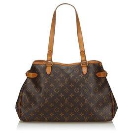 Louis Vuitton-Louis Vuitton Brown Monogram Batignolles Horizontal-Brown