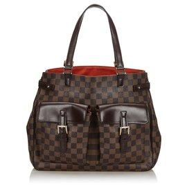 Louis Vuitton-Louis Vuitton Brown Damier Ebene Uzes-Brown