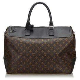 Louis Vuitton-Louis Vuitton Brown Monogram Macassar Neo Greenwich-Brown,Black