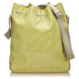 Louis Vuitton-Louis Vuitton Green Damier Geant LV Cup Volunteer-Green,Light green