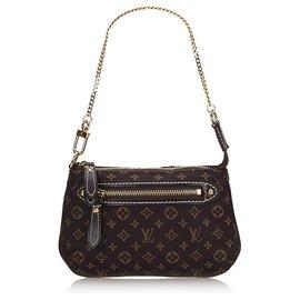 Louis Vuitton-Louis Vuitton Black Monogram Mini Lin Pochette-Black