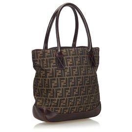 Fendi-Fendi Brown - Zucca - Canvas-Einkaufstasche-Braun