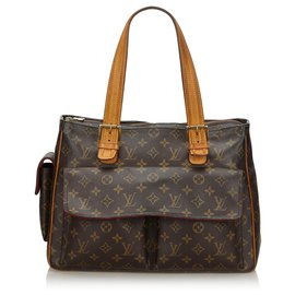 Louis Vuitton-Louis Vuitton Brown Monogram Multipli-Cite-Brown