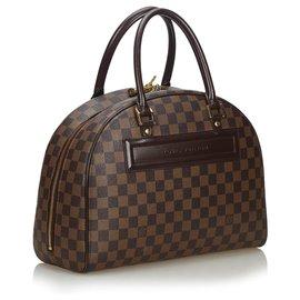 Louis Vuitton-Louis Vuitton Brown Damier Ebene Nolita-Brown