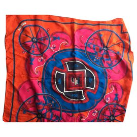 Hermès-Hermes scarf-Orange