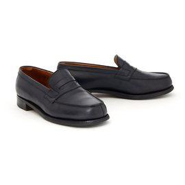 JM Weston-Church´s Loafers 180 NAVY UK4 fr37 E-Navy blue