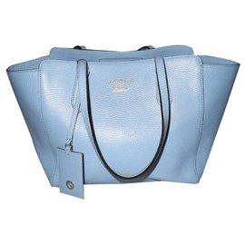Gucci-Gucci cabas Swing cuir grainé bleu ciel-Bleu clair