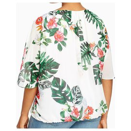 Vince Camuto-Tropical Print blouse Vince Camuto US 1X  - UK 20-Light green