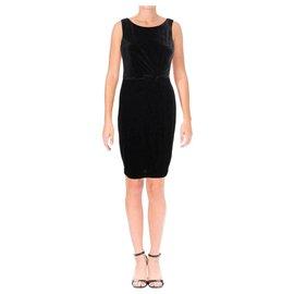 Calvin Klein-black velvet cocktail dress Calvin Klein US 8 UK 12-Black