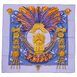 Hermès-INCAS GOLD-Golden,Lila