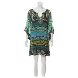 Diane Von Furstenberg-DvF Tabalah silk dress-Multiple colors,Green