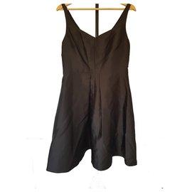 Calvin Klein-Black satin cocktail dress by Calvin Klein US 10 UK 14-Black