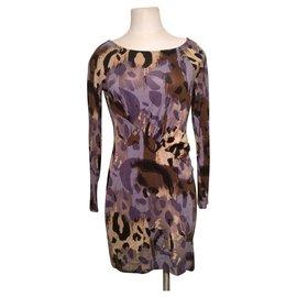 Diane Von Furstenberg-Robe DvF Tallulah en soie-Multicolore,Imprimé léopard