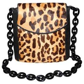 Yves Saint Laurent-Handbags-Leopard print