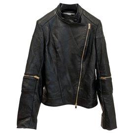 Stella Mc Cartney-Veste de motard en alter-nappa-Noir