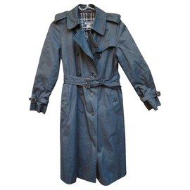 Burberry-Trench Burberry Vintage Couleur Navy Blue-Bleu Marine