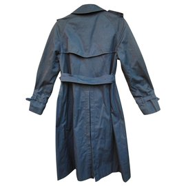 Burberry-Vintage Burberry Trench Color Navy Blue-Navy blue