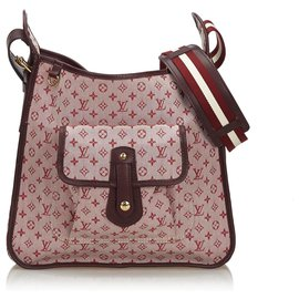 Louis Vuitton-Louis Vuitton Pink Monogram Mini Lin Mary Kate-Pink,Red,Other