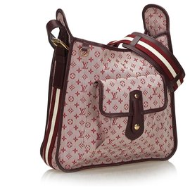 Louis Vuitton-Louis Vuitton rosa Monogramm Mini Lin Mary Kate-Pink,Rot,Andere