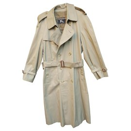 Burberry-vintage Buberry trench t 52 immaculate condition-Khaki