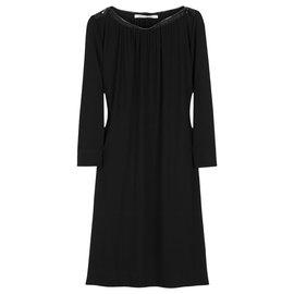 Diane Von Furstenberg-Isley zip tunic dress-Black