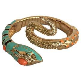 Anna Dello Russo pour H & M-Snake bracelet-Black,Golden,Coral,Turquoise