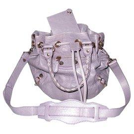 Balenciaga-Balenciaga Giant mini tassel aged leather lilac-Lavender