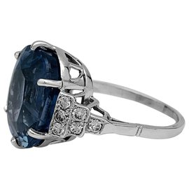 inconnue-Sapphire ring, Platinum, white gold and diamonds.-Other