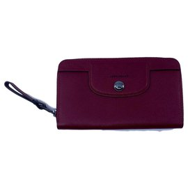 Longchamp-Longchamp wallet-Dark red