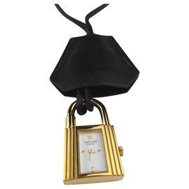Hermès-Montre Hermes Kelly Clochette en plaqué or-Doré