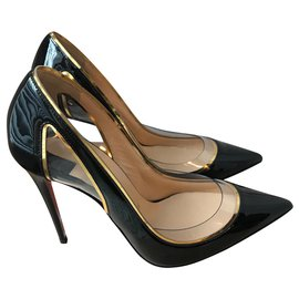 Christian Louboutin-Heels in patent leather-Black
