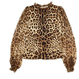 Dolce & Gabbana-PANTHER SILK FR34/36-Imprimé léopard