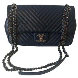 Chanel-classical-Navy blue,Dark blue