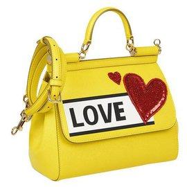 Dolce & Gabbana-Dolce e Gabbana Sicily bag-Yellow