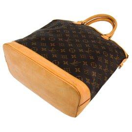 Louis Vuitton-Louis Vuitton Brown Monogram Lockit Vertical-Brown