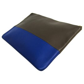 Céline-Celine Brown Pochette Bicolore-Marron,Bleu,Marron foncé