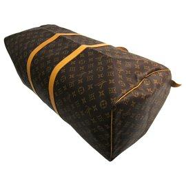 Louis Vuitton-Louis Vuitton Brown Monogram Keepall 60-Brown