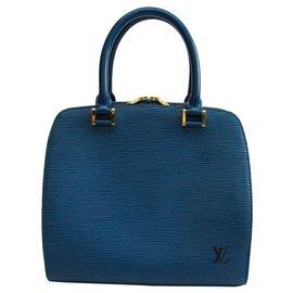 Louis Vuitton-Louis Vuitton Blue Epi Pont Neuf PM-Blue