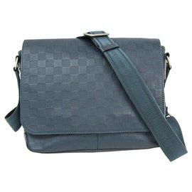 Louis Vuitton-Louis Vuitton Blue Damier Infini District PM-Blue,Navy blue