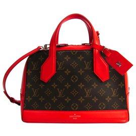 Louis Vuitton-Louis Vuitton Brown Monogram Dora PM-Brown,Red