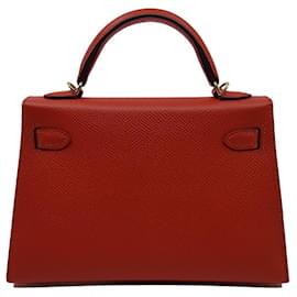 Hermès-Mini Kelly II-Laranja