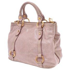 Miu Miu-Miu Miu Leather Hand Bag-Pink