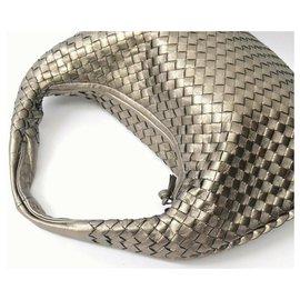 Bottega Veneta-Bottega Veneta Intrecciato Shoulder Bag-Golden