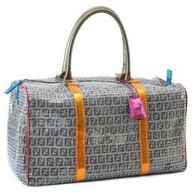 Fendi-Fendi Boston Bag-Grey