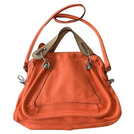 Chloé-Orange and beige party bag chloé-Orange,Coral