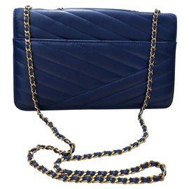 Chanel-Classique-Bleu,Bleu Marine,Bleu foncé