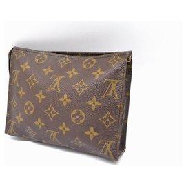 Louis Vuitton-Pochette Louis Vuitton 19-Marron