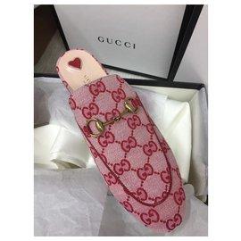 Gucci-GUCCI Mules en toile Princetown new-Multicolore