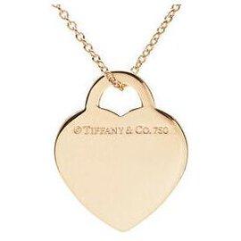Tiffany & Co-TIFFANY & CO. Heart Neacklace-Yellow